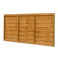 Forest Garden Wooden Lap Fence Panel - 6ft x 3ft (1.83m x 0.91m) (CFT36)