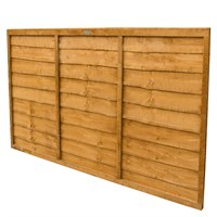 Forest Garden Wooden Lap Fence Panel - 6ft x 4ft (1.83m x 1.22m) (CFT46)