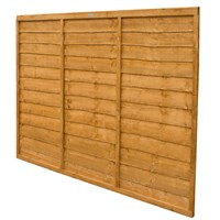 Forest Garden Wooden Lap Fence Panel - 6ft x 5ft (1.83m x 1.52m) (CFT56)