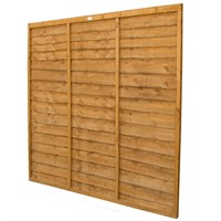Forest Garden Wooden Lap Fence Panel - 6ft x 6ft (1.83m x 1.83m) (CFT66)