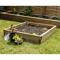 Forest Garden Wooden Caledonian Compact Raised Bed - 90 X 90cm (CALRB9090)
