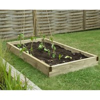Forest Garden Wooden Caledonian Large Raised Bed - 90 X 180cm (CALRB9018)