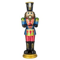 Fountasia Christmas Nutcracker with Drum with LED Lights - Multi-Coloured - Medium (79156)