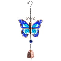 Fountasia Musical Ornament - Butterfly Hanging Bells - Blue (35087)