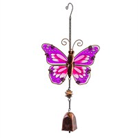 Fountasia Musical Ornament - Butterfly Hanging Bells - Purple (35087)