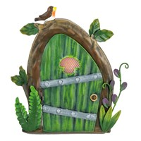 Fountasia Ornament - Pixie Door - Green with Robin (95322)