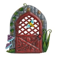 Fountasia Ornament - Pixie Door - Red Crisscross (95321)