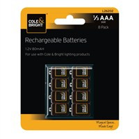 Gardman 1/3 AAA Rechargeable Batteries - 8 Pack (L26202)