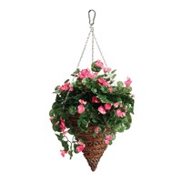Gardman 12in Artificial Begonia Hanging Cone (02846)