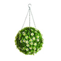 Gardman Artificial Daisy Flower Topiary Ball 30cm (03084)
