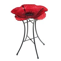 Gardman Royal British Legion Glass Poppy Bird Bath (A01459)