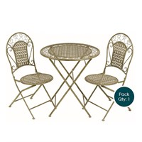Gardman Victorian Outdoor Garden Furniture Tea for Two Set (20105)