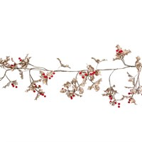 Gisela Graham Christmas Gold Glitter Acrylic Mini Holly Garland Decoration (41018)