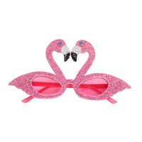 Gisela Graham Christmas Pink Flamingo Acrylic Glasses (38237)