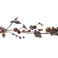 Gisela Graham Christmas Twig Garland With Mini Cones/Leaves/Bells Decoration (40910)