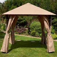 Glendale Venice Heavy Duty Rectangle Gazebo 3m x 4m Mocha (GL1152)