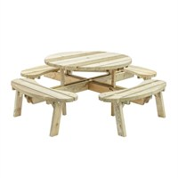 Grange Round Garden Table With Seats (Roungt) DIRECT DISPATCH