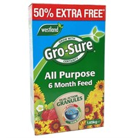 Gro-Sure 6 Month Slow Release Plant Food 1.1Kg + 50% Extra Free 1.65Kg (20100419)