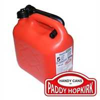 Handy Parts 5 Litre Plastic Petrol Can - Red (HP-270)
