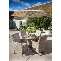 Hartman Heritage Bijou 4 Seat Round Outdoor Garden Furniture Dining Set (711183)