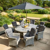 Hatrman Heritage 8 Seat Elliptical Outdoor Garden Furniture Dining Set (787160)