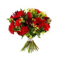 Hot Red Cut Flower Handtied Bouquet