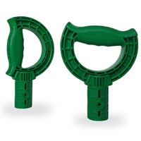 iTip Coloured Wheelbarrow Tipper Handles - Green