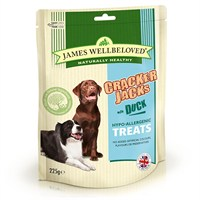 James Wellbeloved Crackerjacks Dog Treats - Duck 225G (7992001)
