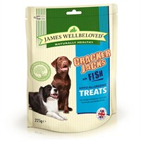 James Wellbeloved Crackerjacks Dog Treats - Fish 225G (7994001)