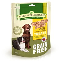 James Wellbeloved Crackerjacks Dog Treats - Grain Free Lamb 225G (7995001)