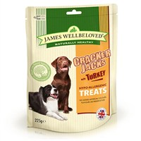 James Wellbeloved Crackerjacks Dog Treats - Turkey 225G (7991001)
