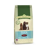 James Wellbeloved Duck & Rice Kibble Dog Food - Adult Maintenance 2Kg (6204020)