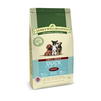 James Wellbeloved Duck & Rice Kibble Dog Food - Adult Small Breed 1.5Kg (6209016)