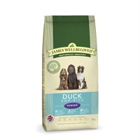 James Wellbeloved Duck & Rice Kibble Dog Food - Senior 2Kg (6206020)
