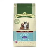 James Wellbeloved Duck & Rice Kibble Dog Food - Senior Small Breed 1.5Kg (6220015)