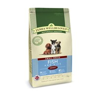 James Wellbeloved Fish & Rice Kibble Dog Food - Adult Small Breed 1.5Kg (6309016)