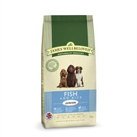 James Wellbeloved Fish & Rice Kibble Dog Food - Junior 2Kg (6302020)