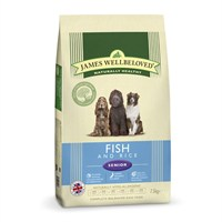 James Wellbeloved Fish & Rice Kibble Dog Food - Senior 7.5Kg (6306075)