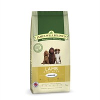 James Wellbeloved Lamb & Rice Kibble Dog Food - Junior 2Kg (6002020)