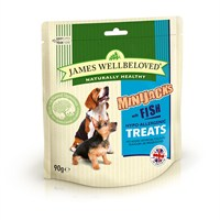 James Wellbeloved Minijacks Dog Treats - Fish 90G (7748001)