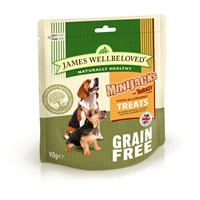 James Wellbeloved Minijacks Dog Treats - Grain Free Turkey 90G (7748201)