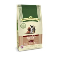 James Wellbeloved Turkey & Rice Kibble Dog Food - Adult Small Breed 7.5Kg (6114075)