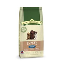 James Wellbeloved Turkey & Rice Kibble Dog Food - Puppy 2Kg (6100020)