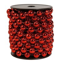 Kaemingk Plastic Bead Garland XL - Christmas Red 1.4 x 5m (0001105)