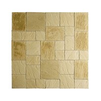 Kelkay Paving Abbey Random Patio Kit - York Gold (8581YG)