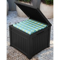 Keter Cube Wood-Look 208L Garden Storage Box - Anthracite (17199851)