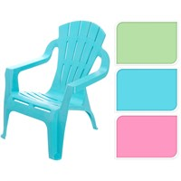 Koopman Childs Deluxe Plastic Outdoors Arm Chair - Blue (042820290)