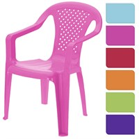 Koopman Childs Plastic Outdoors Arm Chair - Pink (042810030)