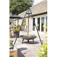 La Hacienda Tripod with Chrome Hanging Grill (55578)