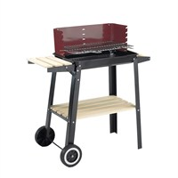 Landmann Wagon Charcoal Barbecue with Side Table & Stand (0566)